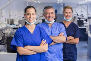 Team of dentists at a multi-specialty dental practice
